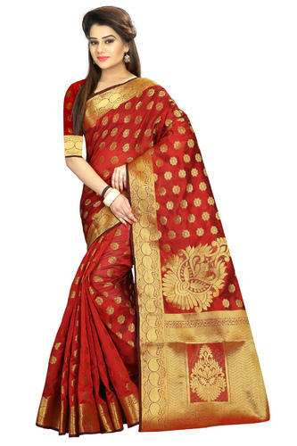 e27eeb109993b South Indian Wedding Cotton Silk Saree at Rs 1050  piece
