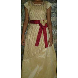 Cotton S And L Girls Party Wear Gown