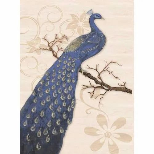 Ceramic Peacock Wall Tile, Packaging Type: Box