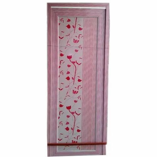 Floral Printed PVC Door for Home