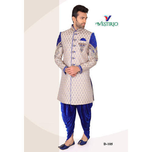 a390c2e6e5 40 And 42 Embroidered Mens Designer Dhoti Sherwani, Rs 5200 /piece ...