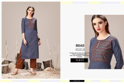 Lavender Designer Kurti with Pants