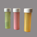 1 Dram Colorful Homeopathic Plastic Bottle