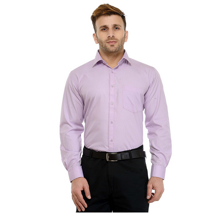 62faa32daf4 Micro Checks (Purple )Solid Slim Fit Formal Shirt For Men at Rs ...