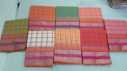 Casual Wear Kota Doria Checks Sarees