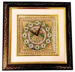 Marble Meenakari Wall Clock