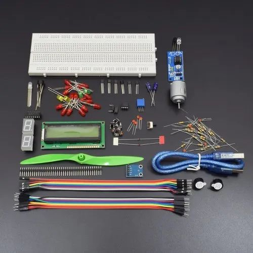 Project Starter Kit For Arduino Uno R3/mega2560 With Breadboard, Lcd 1602,  Buzzer, Motor Etc Kt101