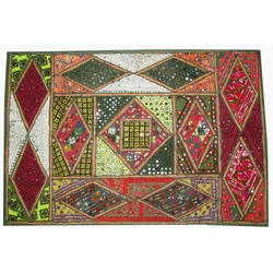 Indian Ethnic Khambadia Patchwork Embroidered Wall Hanging