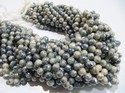 Mystic Coated Gray Silverite Beads