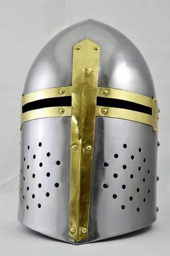 Armor Helmet Great Helm Crusader Helmet