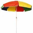 Yellow & Orange Printed Polyester Garden Umbrella