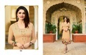 Satin Embroidered Party Wear Kurti