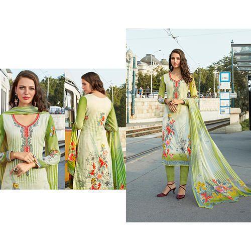 f78231bcb8 Pure Cotton Satin Designer Print Suit, Cotton Salwar Kameez, Cotton ...