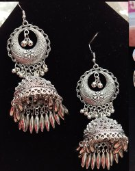 Oxidised Heavy Antique Earring