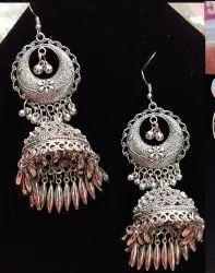 Oxidised Heavy Antique Earring