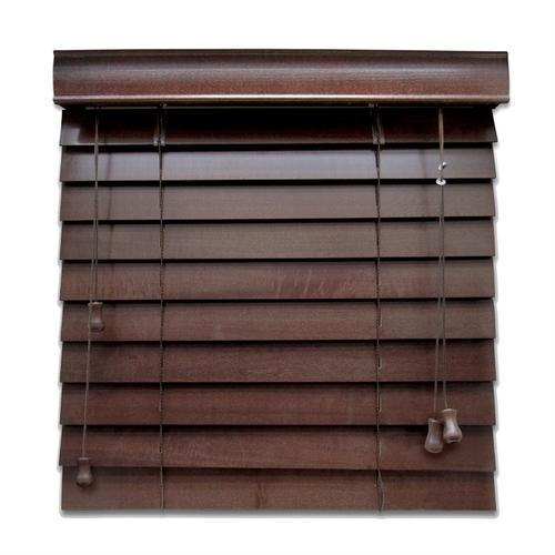 Dark Brown Horizontal Wooden Curtain