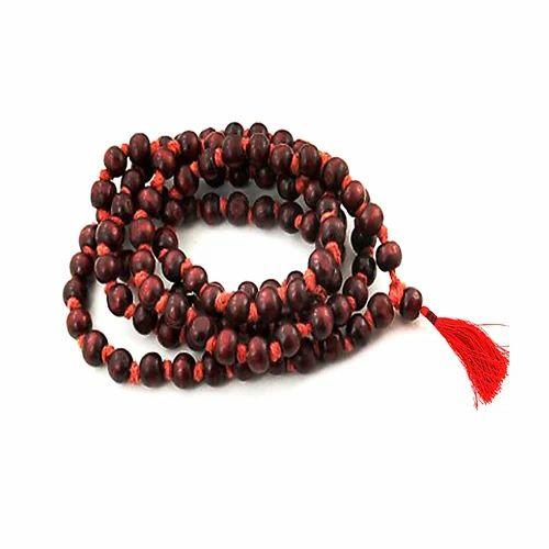 rudraksha mala - Gemsamor Energized 108 Beads Red Sandalwood