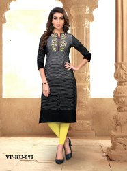 Fancy Cotton Embroidered Printed Kurti