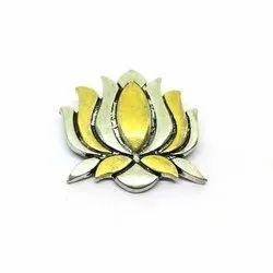Navrabeads Party Lotus Antique Dual Tone Pendant, Size: 37mm X33mm