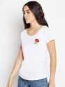 The Dry State Ladies White Cotton T-Shirt