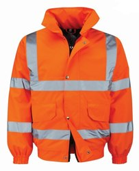 Full Sleeves Nylon High Visibility Winter Jackets