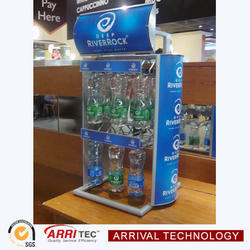 Hot Bottled Water Counter Display