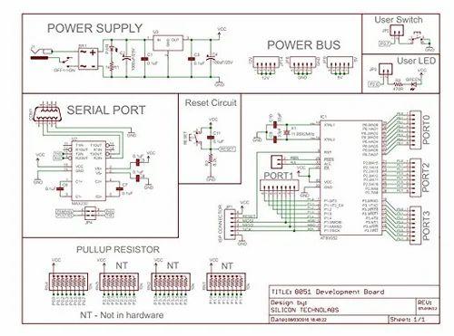 silicon technolabs atmel 8051 project development board, stl010v2 0
