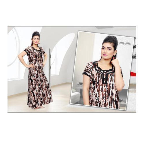 e070c28356 Printed Free Size Ladies Brown Cotton Nighty, Rs 247 /piece | ID ...