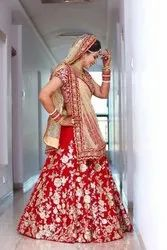 NEW DESIGNER Red LAHENGA CHOLI