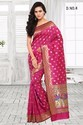 Pink South Indian Silk Printed Sarees