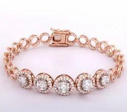 Round Solitaire Diamond Bracelet