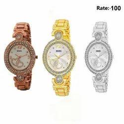 Novex Wedding Wear Ladies Fashion Bracelet Watches