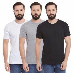 KIWI STAR Cotton Men Round Neck T Shirts
