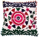 Suzani Embroidered Sofa Cushion Cover