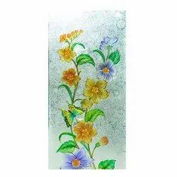 Flower Printed Glass
