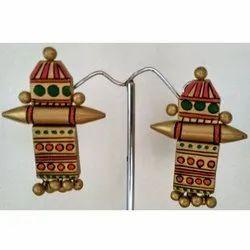 Totem Shape Terracotta Earrings