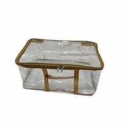 Plastic Pvc Zipper Saree Cover Bag