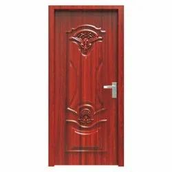 Red Residential Safety Steel Door, Size/Dimension: 7 x 3 Feet