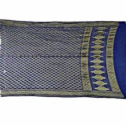 All Over Blue Color Janglow Design Banarasi Georgette Bandhani Dupatta