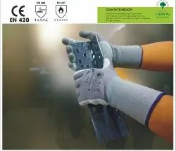 Steeltech/30 Seamless Knitted Dipped Leather Gloves