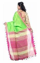 Silk Formal Wear Saree, Blouse Size: 0.8mtr