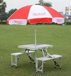 Aluminium Picnic Table With Umbrella