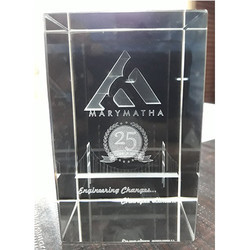3D Logo Crystal Engraved