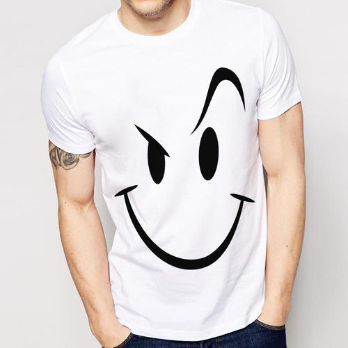 ff81383dac White And Black And Navy Blue Cotton And Hosiery Customized Pure Cotton  Printed T-Shirts