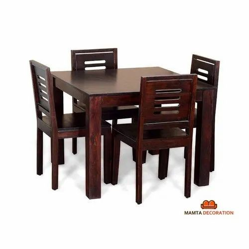 Wooden 4 Chair With Dining Table