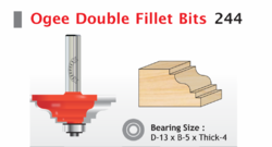 Ogee Double Fillet Bits