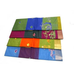 Embroidery Silk Saree, 6.3 M (with Blouse Piece)