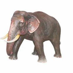 Fiber Elephant Statue, For Exterior Decor And Social Functions