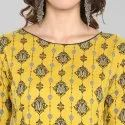 Yellow Pure Cotton Kurta With Pant