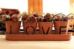 Love Set / Flower Vase / T- Light Holder